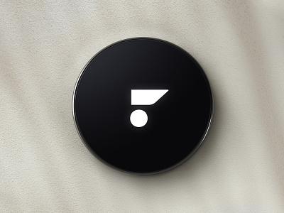 Faunder Logo No.06 Device home smart home rendering device sans pink red f logo design logo aunder