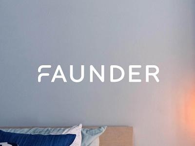 Faunder Logo energy smart home faunder sans julian hrankov branding logo