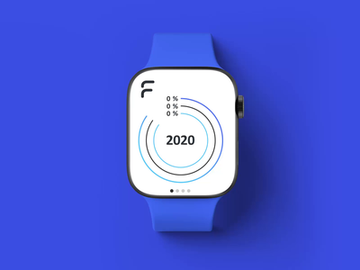 Faunder logo watch apple watch animation infographic device watch logo branding faunder
