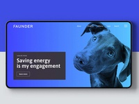 Faunder logo application dog blue julian hrankov germany energy devce smart home smart logo faunder