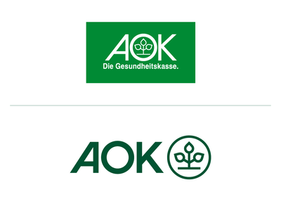 AOK Rebranding green healthcare health tree icon branding logo