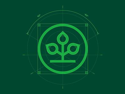 AOK logo construction insurance health green branding construction grid logo