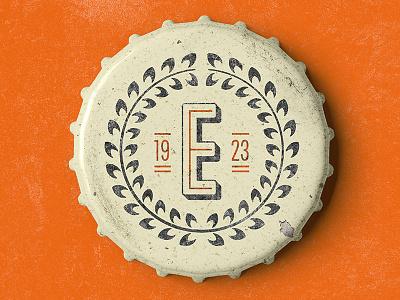 Vintage Bottle Caps orange e laurel 1920s vontage cap bottle