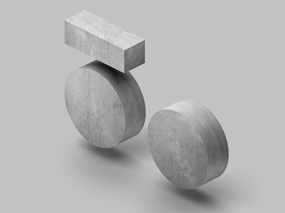 50 concrete 50 abstract 3d c4d cinema4d grey green neo perspective isometric