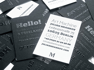 Art Machine Business Card By Julian Hrankov Art Machine On