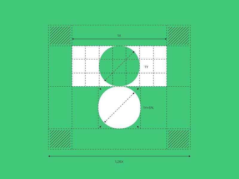 Tippn logo construction #1 germany german sports football soccer circle symbol logomark grid branding logo app tippn
