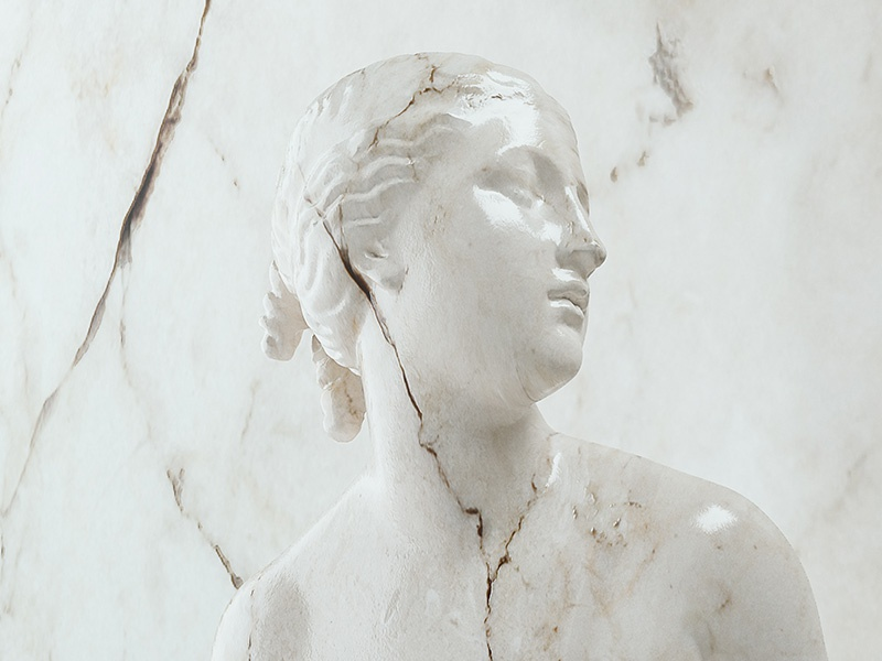 Icons #1 3d marble statue rendering imagestyle cinema4d