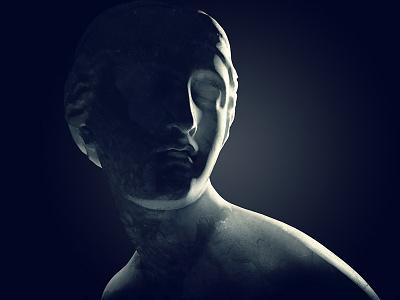 Icons #2 dark premium marble statue corona cinema4d c4d imagery 3d