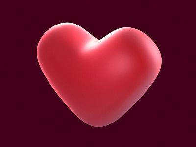 Heart red julian hrankov favourite like 3dicon icon heart 3d