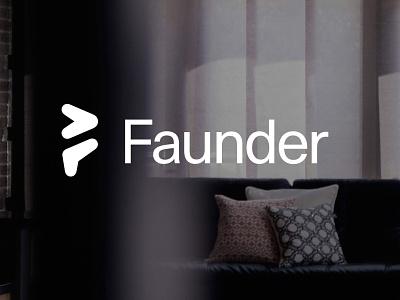 Faunder No.01 logodesign logo time arrow energy smart home home smart faunder