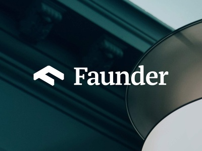Faunder Logo No.03 isometric germany 3d serif energy f roof home smart smart home faunder