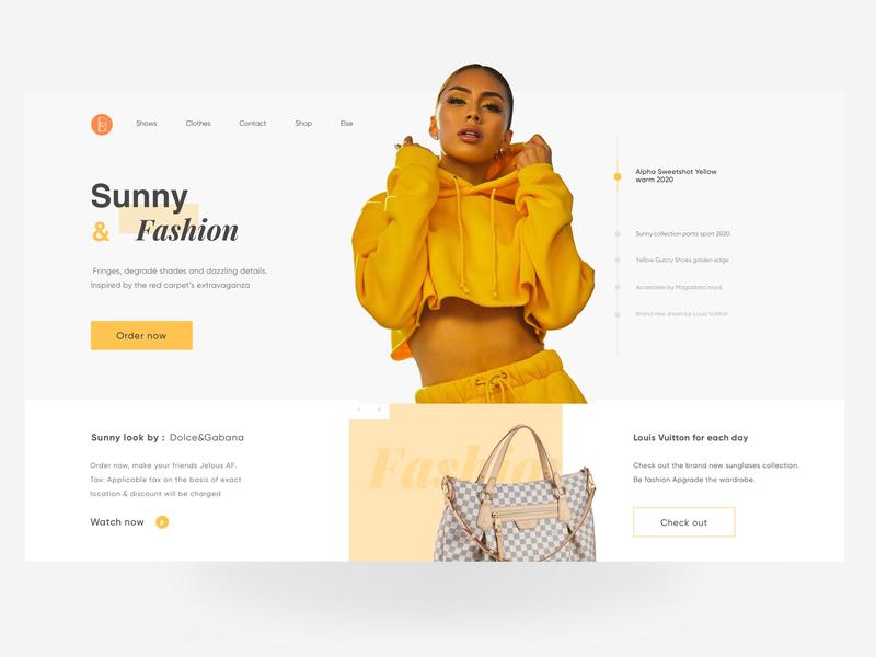 Fashion Website header design headers clothes fashion