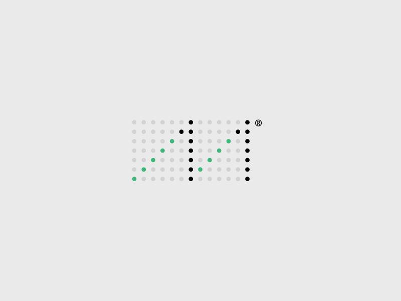 Logo for a digital marketing agency minimal simplicity mexico latam symbol logo grid metric letter m 11 graph