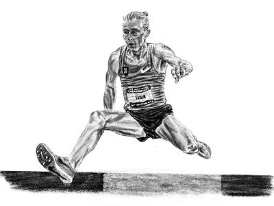 Jager portrait athletics drawing procreate ipad pro digital art digital pencil illustration
