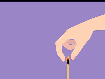 Extinguish Match match burnout vector illustration