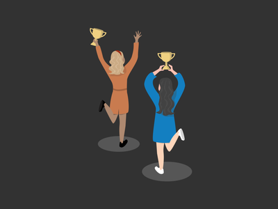 Celebrate small wins celebration team illustration vector goals champions winning