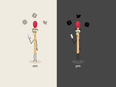 Social Media Addiction matches addictive addiction illustration vector socialmedia
