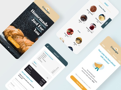 Food Delivery Mobile Web payment form form home croissant food delivery screen mobile vector figma ui