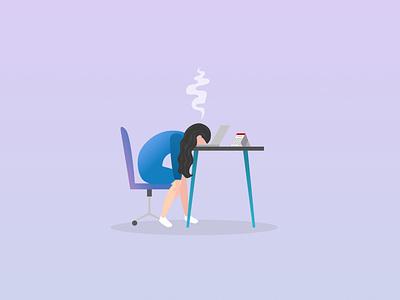 burned out engineer panel crash work developer figma design burnout vector illustration