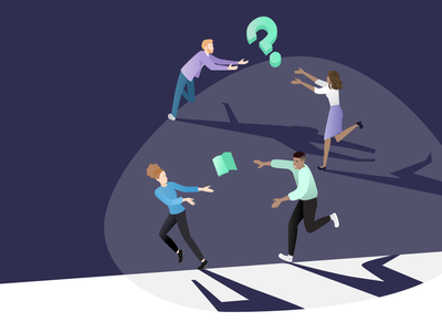 Mentoring run group vector ui landing design illustraion work helping mentee doubt mentorship mentoring mentors