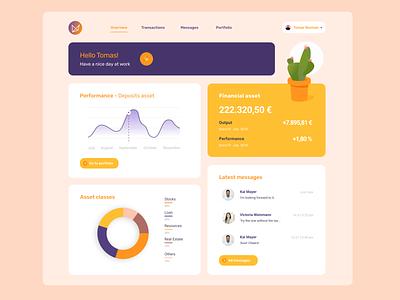 Dashboard Financial Asset - eCactuX UI study case study case figma desktop app finance app assets dashboard design dashboard app dashboard ui dashboad ui