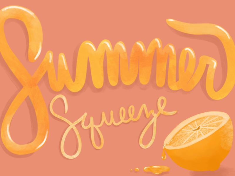 Summer Squeeze typography illustration design