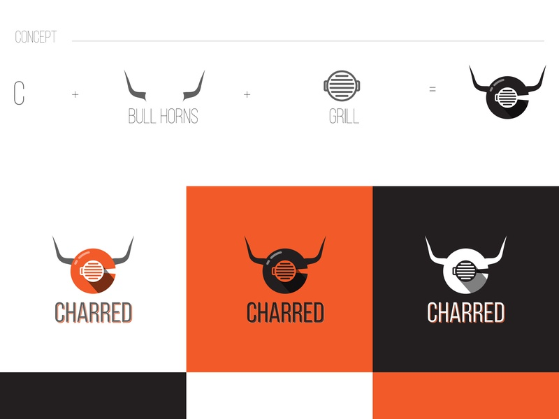 Charred - Concept vector typography minimal logos illustrator identity flat first shot clean design hello dribbble hellodribbble branding design branding concept creative agency australia creative agency melbourne branding and identity creative agency branding agency branding