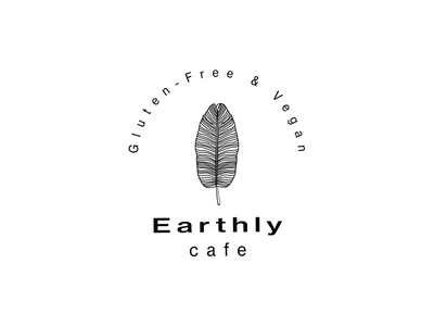 Earthly cafe logo gluten free vegan logo design earthly cafe cafe logo logo cafe