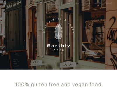 Earthy Cafe Landing Page gluten free vegan webdesign