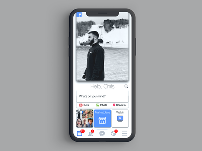 Facebook Landing Page landingpage concept redesign app mobile ios apple ui dailyui design facebook