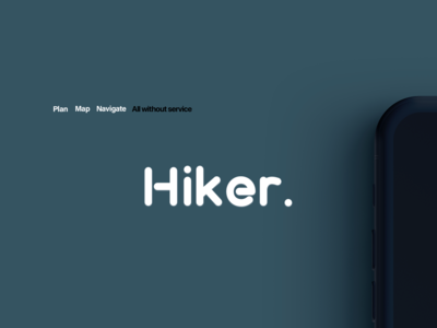 Hiker. Photo Ad Concept