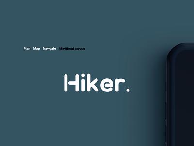 Hiker. Photo Ad Concept illustration mobile hiking hiker app concept adobe simple design simple