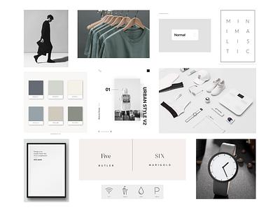Minimalist | Neutral minimalist moodboard neutral