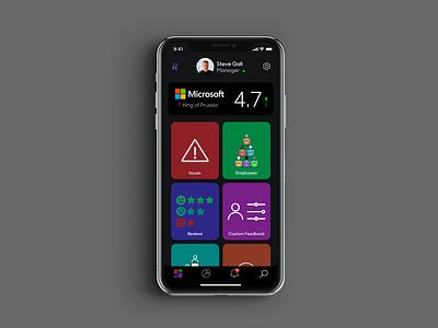 Recognition | Manager Dashboard edit dashboard concept ux ui design app mobile