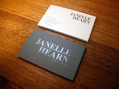Janelle Hearn Cards business cards clear foil branding logo design