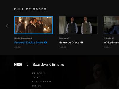 HBO.com Visual Update knockout gotham black gray white
