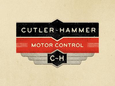 Cutler-Hammer orange black tan creme bryant vintage logo