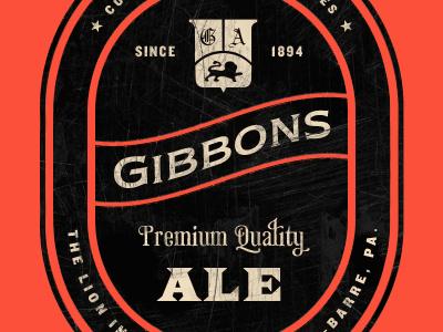 Gibbons Ale vintage knockout newtextef saracen phaeton black red texture