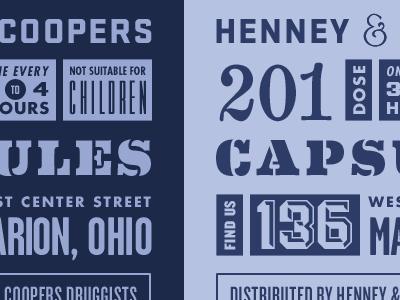 Henney & Coopers futura garage gothic knockout blue stratum no1 eames century modern powerstation