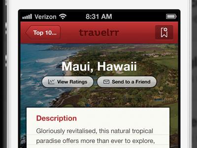 Travelrr App red gray black white app iphone helvetica neue pluto