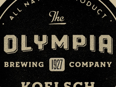 Olympia Brewing Co black gold vintage