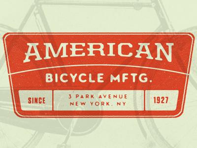 ABM orange green vintage united neutraface tungsten vintage logo