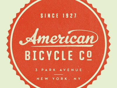 American Bicycle Co. orange green vintage united neutraface tungsten