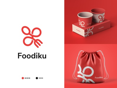Foodiku icon app food logo ui typography illustration minimal logo design branding