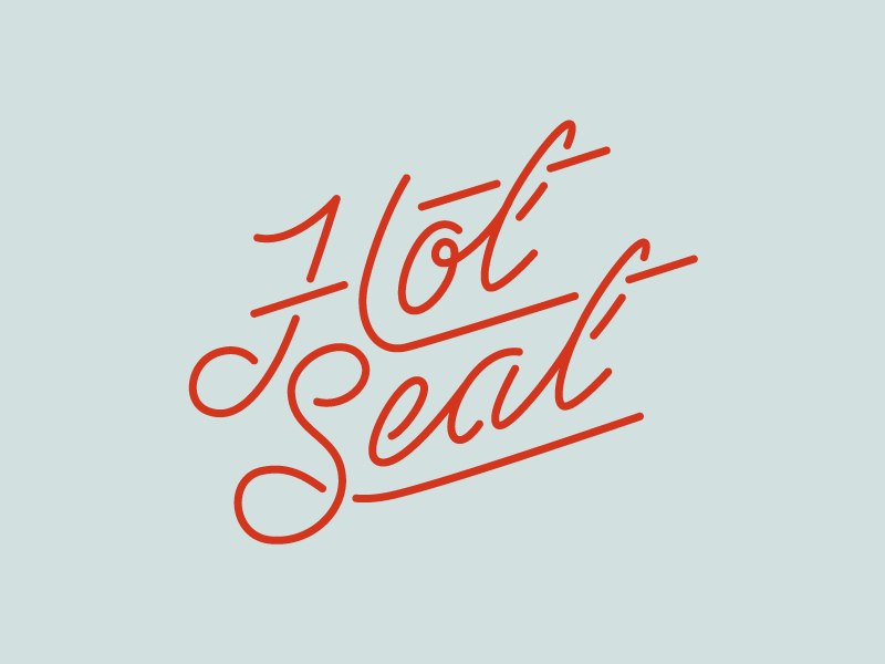 It's Getting Hot in Hurr hot retro script stroke lettering vintage neon