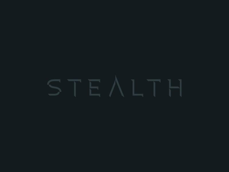 STLTH mi6 black branding crisp clean logotype stealth type logo