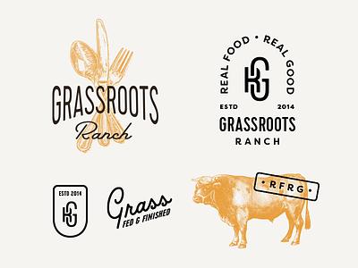 GRR V2 sustainable script ranch monogram label food farm emblem brand beef agriculture
