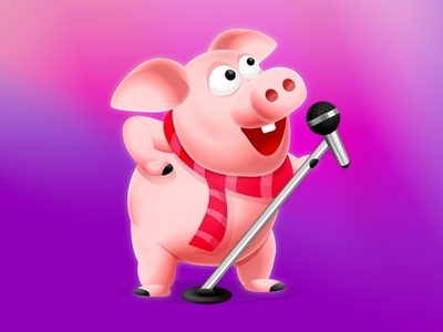 Sing a song cartooning cartoon character piggy pigeon singer song pig sing