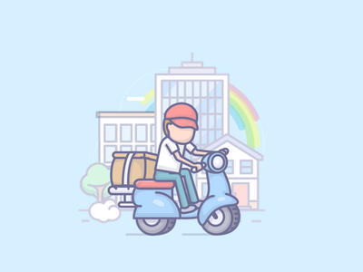 Express delivery design vector cartooning cartoon cartoon character express delivery illustration app app design