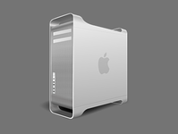 A Mac computer illustration design with realistic style